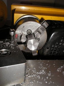 Position of the tool for the first cut
