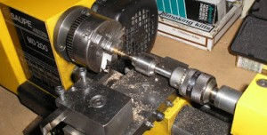 Drilling with very small drill in lathe