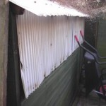 Replacing the cladding on workshopshed
