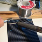 Making a low cost solar panel