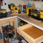 Drawer for lathe tools