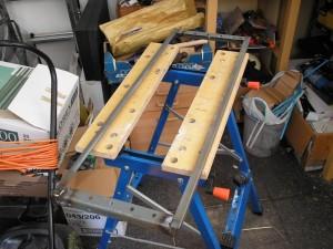 Angle iron frame