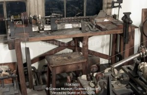 A view of a reconstruction of James Watts' workshop, containing over 6,600 objects, as detailed in the inventory made by Watt himself