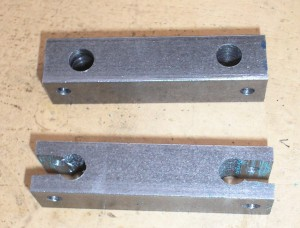 One arm slots sawn