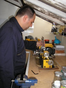 Andy in the Workshopshed
