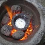 Flowerpot Furnace melting Aluminium