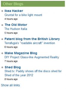 Blogroll Widget