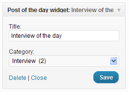 Post Of The Day Widget
