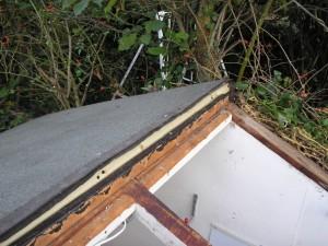 Roof felt layers