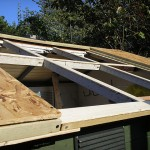 Shed roof part 3 - Installing the window