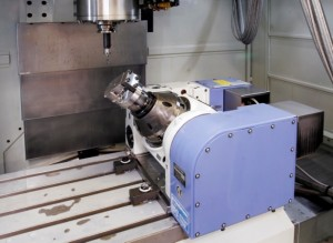 Rotary table with 5th axis provision