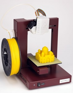 Afinia H-Series Printer, with yellow ABS spool