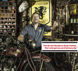 John Gee owner of Antique Motorcycles - ManSpace Magazine