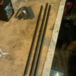Stick welding rods and sheet - chair repair