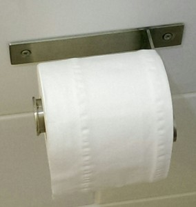 Repaired toilet roll holder