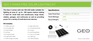 Geo5 Solarpower Kit