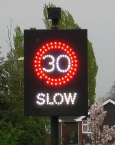 Electronic Speed sign from Wikimedia