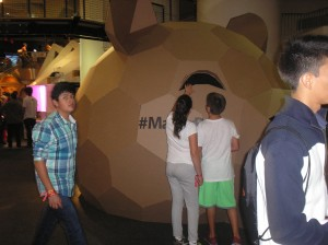 Cardboard Bear Head