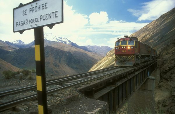 Trans-Andean Railway designed by Ernest Malinowski, 2002, photo by Marcin Biernacki