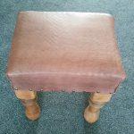 A handmade footstool