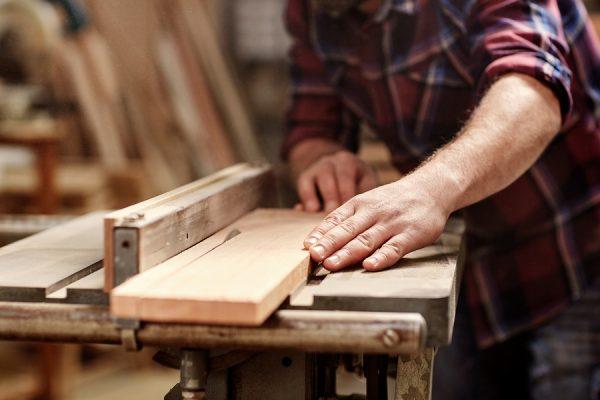 Big planks being cut