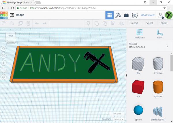 TinkerCAD prototyping