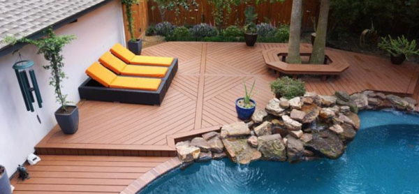 A large multi-level decking project