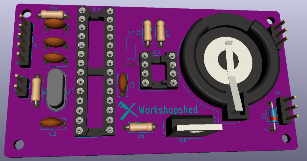 Creating a 3D model for Kicad - Workshopshed