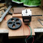 Stepper motor and drum
