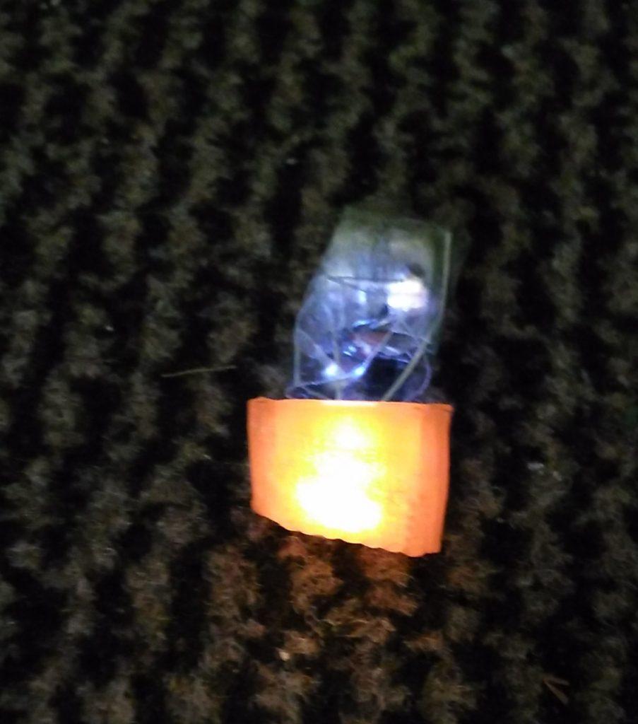 Orange light lit up