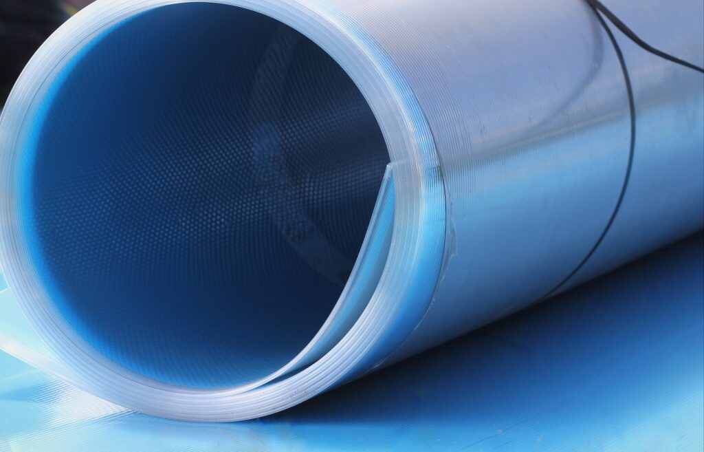 A roll of multi-wall polycarbonate sheet